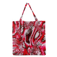Winter Fractal 5 Grocery Tote Bag