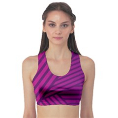 Pattern Lines Stripes Texture Sports Bra