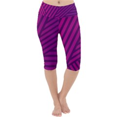 Pattern Lines Stripes Texture Lightweight Velour Cropped Yoga Leggings