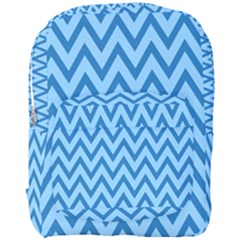 Blue Chevron Background Abstract Pattern Full Print Backpack by Wegoenart