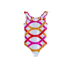 Art Background Abstract Kids  Frill Swimsuit