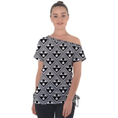 Background Triangle Circle Tie Up Tee