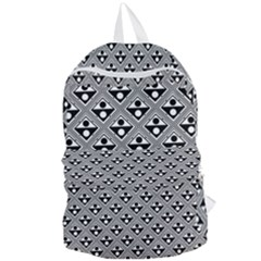 Background Triangle Circle Foldable Lightweight Backpack by Wegoenart