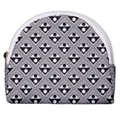 Background Triangle Circle Horseshoe Style Canvas Pouch