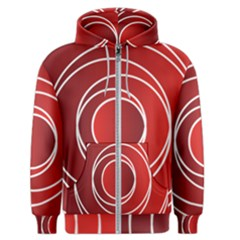 Background Circles Red Men s Zipper Hoodie