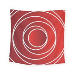 Background Circles Red Square Tapestry (small)