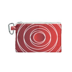 Background Circles Red Canvas Cosmetic Bag (small) by Wegoenart