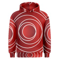 Background Circles Red Men s Overhead Hoodie