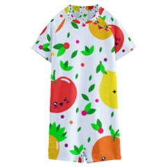 Pattern Fruit Fruits Orange Green Kids  Boyleg Half Suit Swimwear by Wegoenart