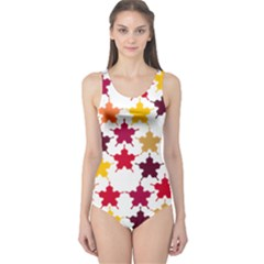 Background Abstract Art One Piece Swimsuit