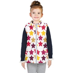 Background Abstract Art Kids  Hooded Puffer Vest by Wegoenart