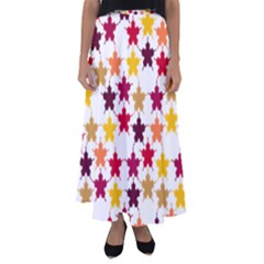 Background Abstract Art Flared Maxi Skirt