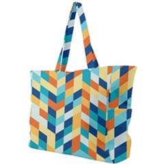 Geometric Retro Wallpaper Simple Shoulder Bag