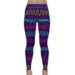 Background Waves Abstract Background Classic Yoga Leggings
