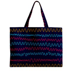 Background Waves Abstract Background Zipper Mini Tote Bag