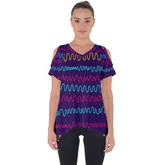Background Waves Abstract Background Cut Out Side Drop Tee