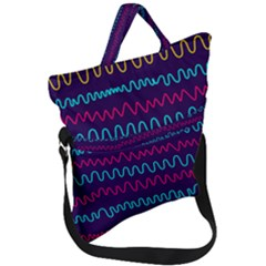Background Waves Abstract Background Fold Over Handle Tote Bag by Wegoenart