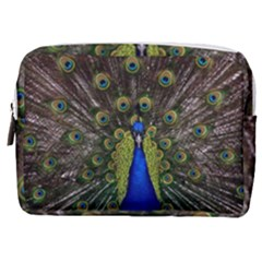 Peacock Bird Plumage Display Full Make Up Pouch (medium)