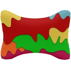 Liquid Forms Water Background Seat Head Rest Cushion