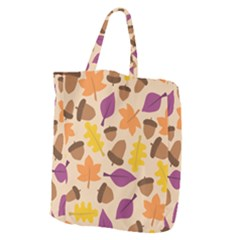 Acorn Autumn Background Boxes Fall Giant Grocery Tote