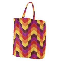 Geometric Pattern Triangle Giant Grocery Tote