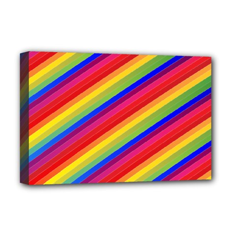 Rainbow Background Colorful Deluxe Canvas 18  X 12  (stretched)