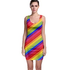 Rainbow Background Colorful Bodycon Dress