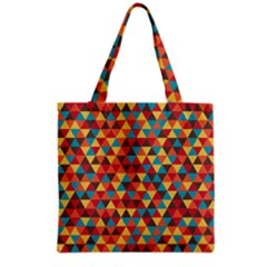 Background Triangles Retro Vintage Grocery Tote Bag