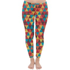 Background Triangles Retro Vintage Classic Winter Leggings