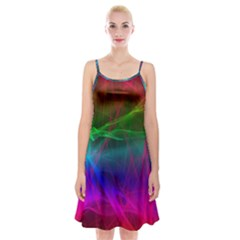 Background Art Pattern Spaghetti Strap Velvet Dress