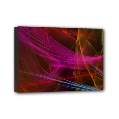 Background Abstract Colorful Light Mini Canvas 7  X 5  (stretched)