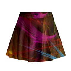 Background Abstract Colorful Light Mini Flare Skirt