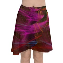 Background Abstract Colorful Light Chiffon Wrap Front Skirt