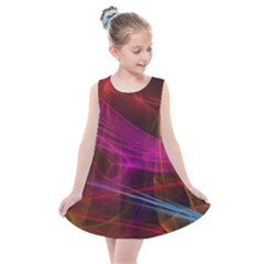 Background Abstract Colorful Light Kids  Summer Dress