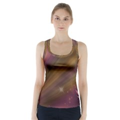 Space Orbs Stars Abstract Sky Racer Back Sports Top