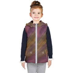 Space Orbs Stars Abstract Sky Kids  Hooded Puffer Vest