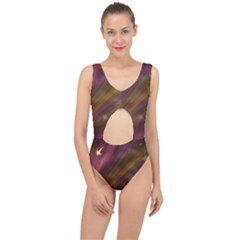 Space Orbs Stars Abstract Sky Center Cut Out Swimsuit
