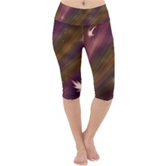 Space Orbs Stars Abstract Sky Lightweight Velour Cropped Yoga Leggings
