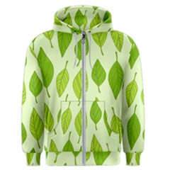Autumn Background Boxes Green Leaf Men s Zipper Hoodie