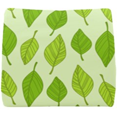 Autumn Background Boxes Green Leaf Seat Cushion