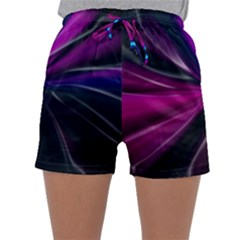 Abstract Background Lightning Sleepwear Shorts