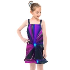 Abstract Background Lightning Kids  Overall Dress