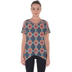 Art Vintage Background Abstract Cut Out Side Drop Tee