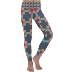 Art Vintage Background Abstract Kids  Lightweight Velour Classic Yoga Leggings