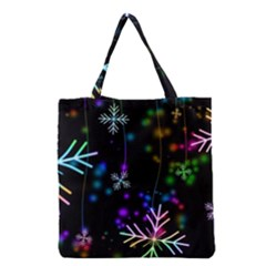 Snowflakes Snow Winter Christmas Grocery Tote Bag