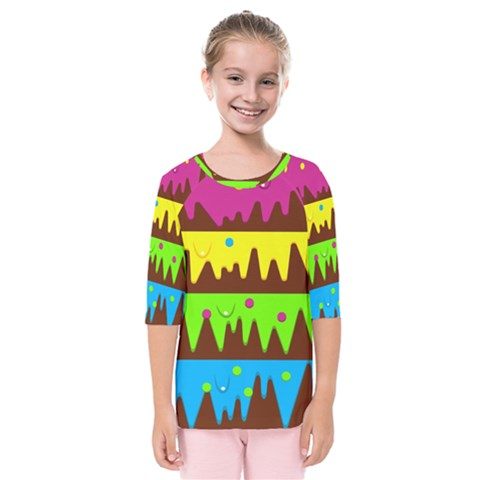 Illustration Abstract Graphic Kids  Quarter Sleeve Raglan Tee by Wegoenart