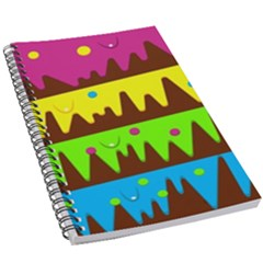 Illustration Abstract Graphic 5 5  X 8 5  Notebook by Wegoenart