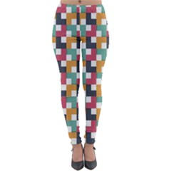 Background Abstract Geometric Lightweight Velour Leggings
