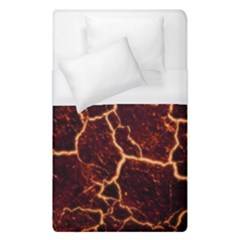 Lava Cracked Background Fire Duvet Cover (single Size) by Wegoenart