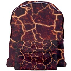 Lava Cracked Background Fire Giant Full Print Backpack